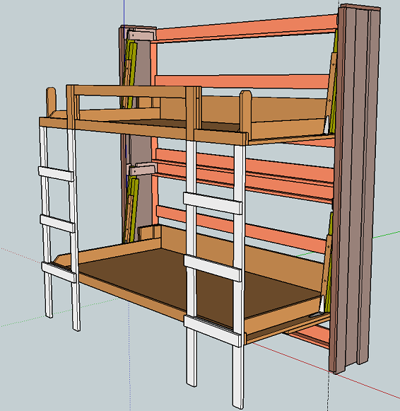 Stacked Twin Murphy Bed | Ana White Woodworking Projects