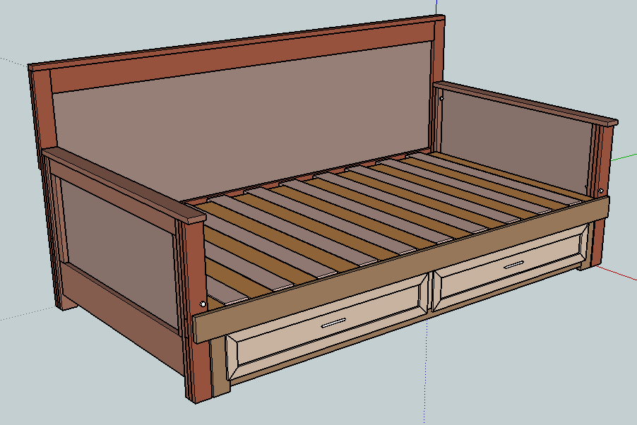 Pull-out Daybed - Pull-out Daybed Do-It-Yourself Furniture