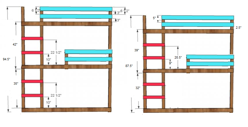 Triple Bunk Bed Plans L Shaped PDF Woodworking