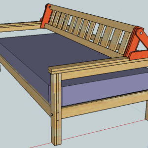 daybed backrest kit do it yourself furniture. Black Bedroom Furniture Sets. Home Design Ideas